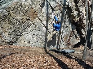 Bouldering in Little Rock City or LRC secteur Corridors