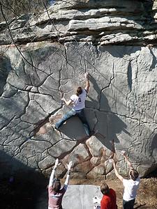 Bouldering in Little Rock City or LRC : Deception V7