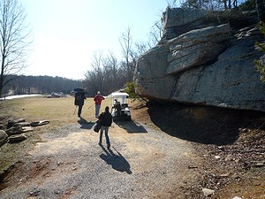 Bouldering in Little Rock City or LRC