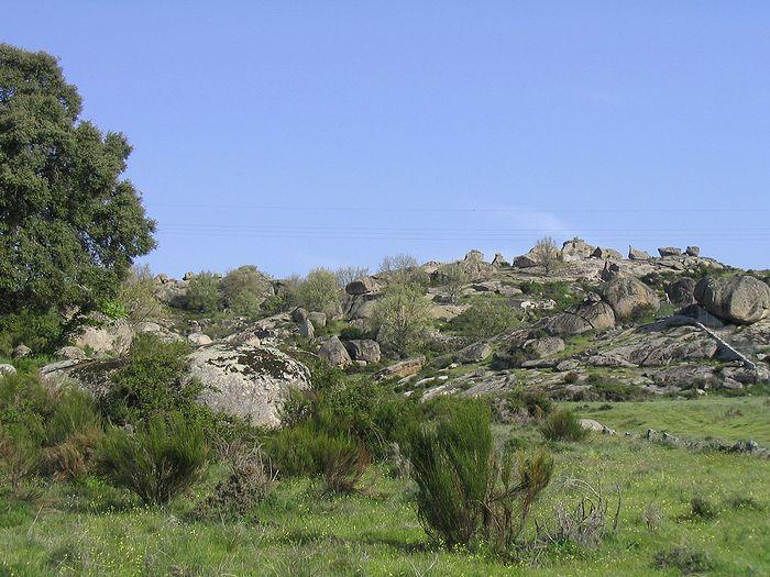 Escalade bloc vue d ensemble de Zarzalejo