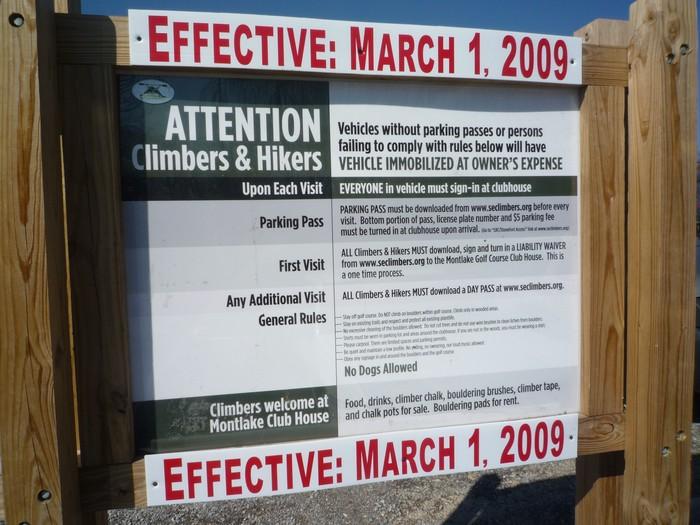 Les règles de LRC affichées à l'entrée